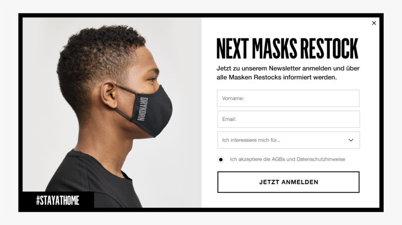Drykorn Face Mask Restock Pop-Up by &Revenue