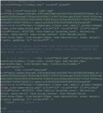 Komplette Einbindung in HTML-Body