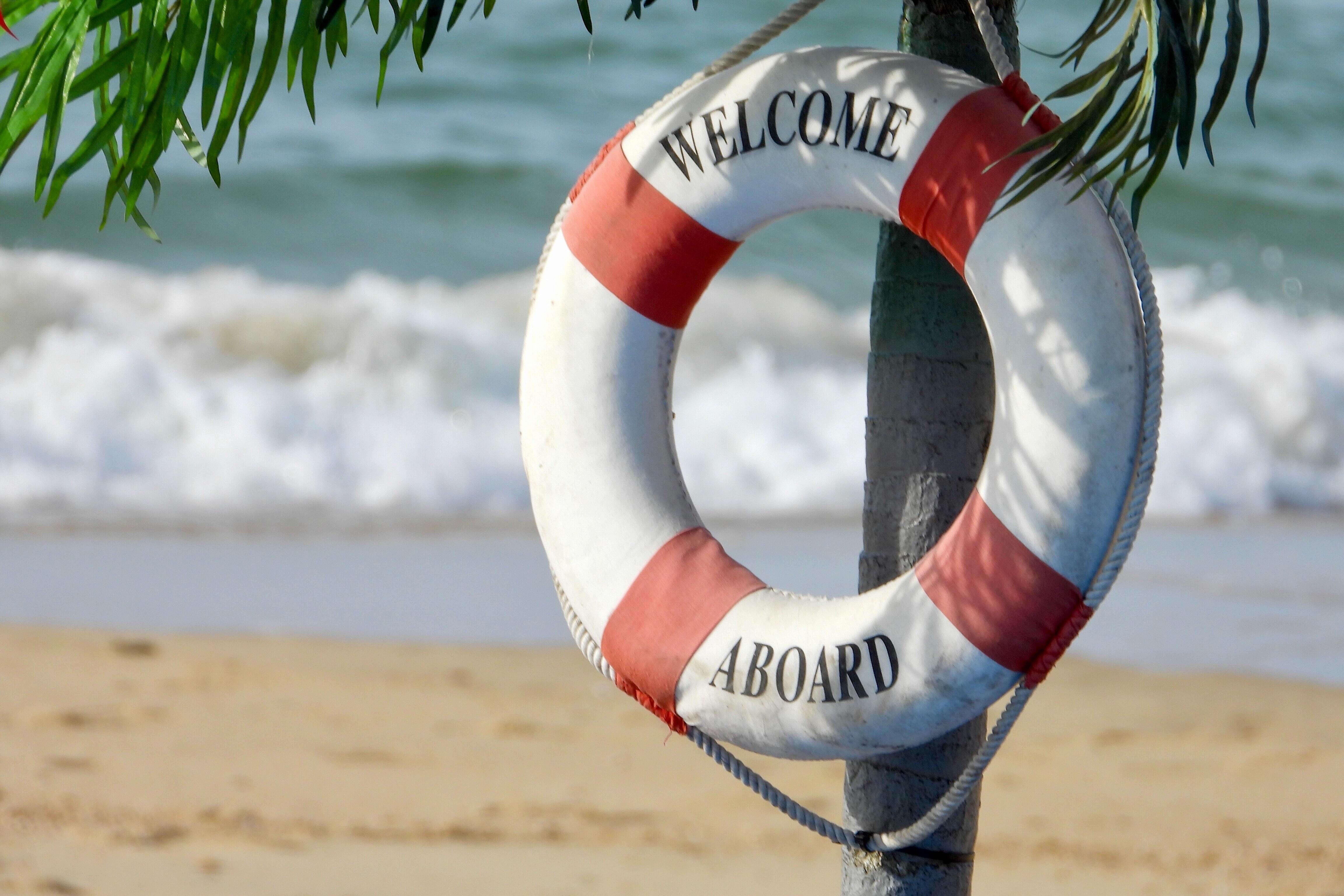 Welcome Aboard Rettungsring