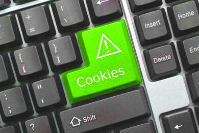 Cookies Warnung auf Tastatur
